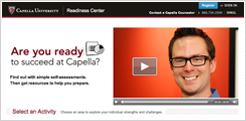 Screenshot of Capella's readiness center