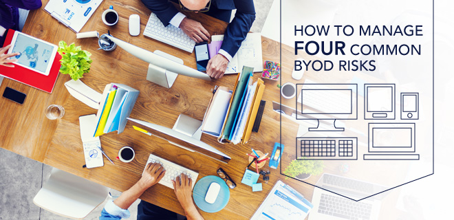 manage common bring your own device BYOD risks