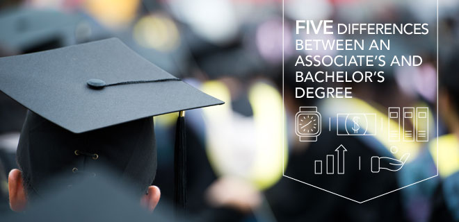 a comparison of the differences between an associate degree in nursing and the baccalaureate degree