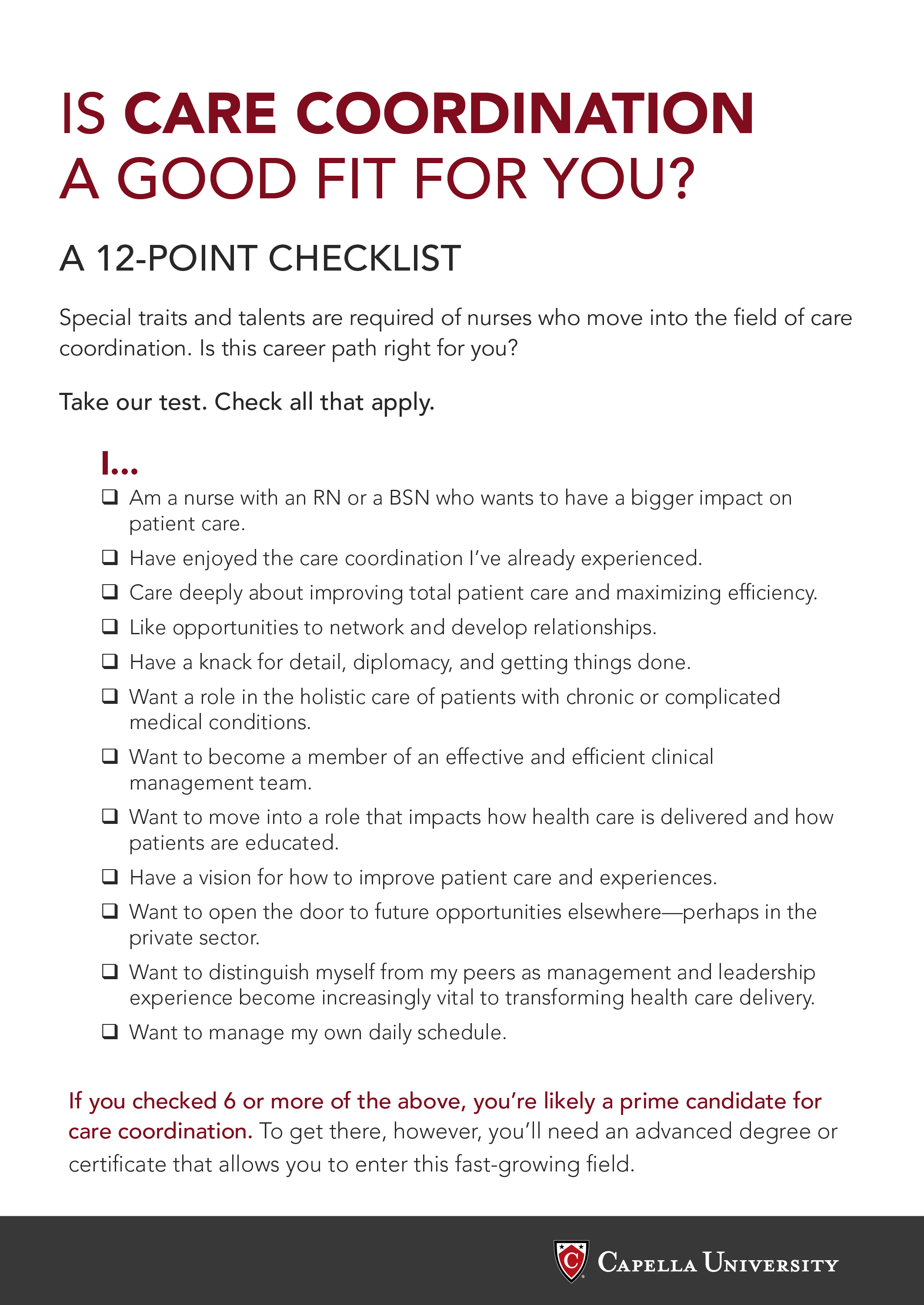 Care Coordination Checklist