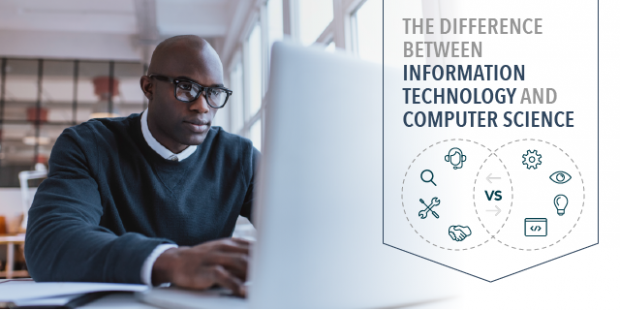 the difference between information technology and computer