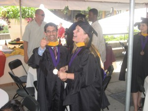 Kathryn Calisto at the 2007 Minneapolis commencement with her husband