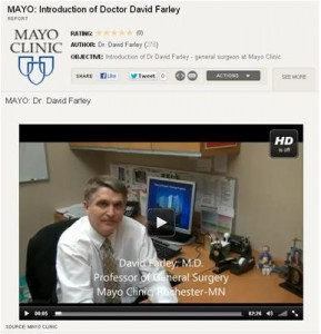 David R. Farley, M.D, surgeon and professor at Mayo Clinic