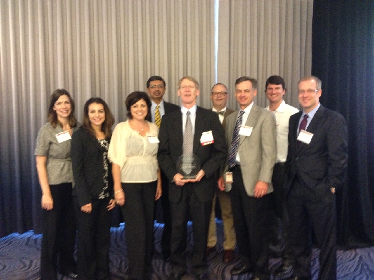 Honoring Capella's Sr. VP and CIO Loren Brown at the MSPBJ CIO of the Year Awards