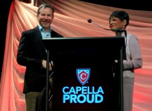 Capella President Scott Kinney and Executive Dean of External Relations and Partnerships and Dean Emeritus, Barbara Butts Williams, Ph.D.