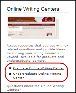 Writing-Center-websites