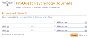 Screen shot of new ProQuest interface