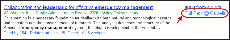 Google Scholar full text library link