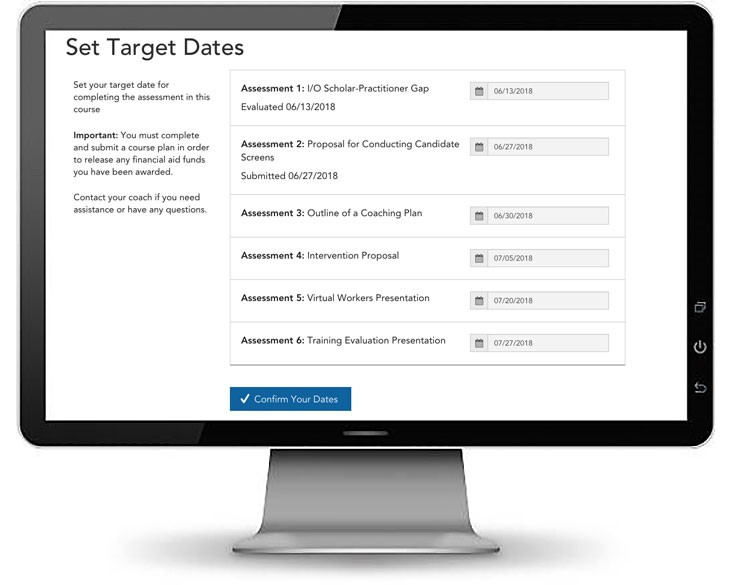 setting your target dates